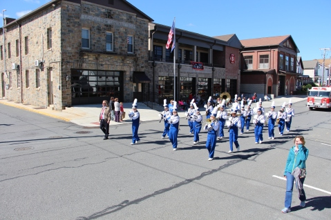 Parade for New Fire Station, Pumper Truck, Boat, Lehighton Fire Department, Lehighton (387)