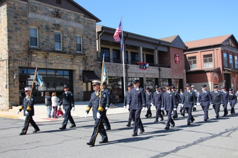 Parade for New Fire Station, Pumper Truck, Boat, Lehighton Fire Department, Lehighton (39)