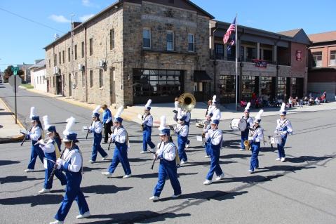 Parade for New Fire Station, Pumper Truck, Boat, Lehighton Fire Department, Lehighton (398)