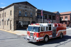Parade for New Fire Station, Pumper Truck, Boat, Lehighton Fire Department, Lehighton (407)