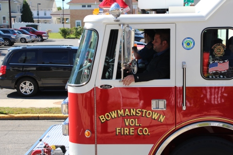 Parade for New Fire Station, Pumper Truck, Boat, Lehighton Fire Department, Lehighton (409)