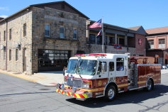 Parade for New Fire Station, Pumper Truck, Boat, Lehighton Fire Department, Lehighton (414)