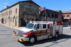 Parade for New Fire Station, Pumper Truck, Boat, Lehighton Fire Department, Lehighton (422)