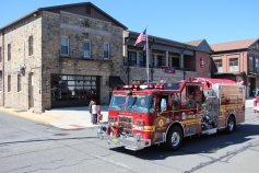 Parade for New Fire Station, Pumper Truck, Boat, Lehighton Fire Department, Lehighton (424)