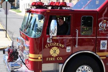 Parade for New Fire Station, Pumper Truck, Boat, Lehighton Fire Department, Lehighton (426)