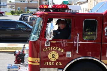 Parade for New Fire Station, Pumper Truck, Boat, Lehighton Fire Department, Lehighton (427)