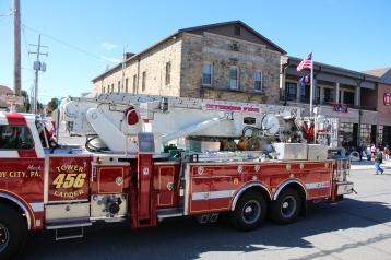 Parade for New Fire Station, Pumper Truck, Boat, Lehighton Fire Department, Lehighton (434)