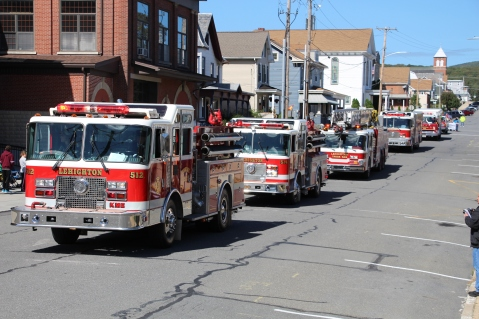 Parade for New Fire Station, Pumper Truck, Boat, Lehighton Fire Department, Lehighton (61)