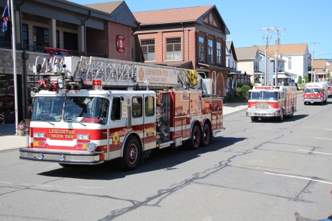 Parade for New Fire Station, Pumper Truck, Boat, Lehighton Fire Department, Lehighton (71)