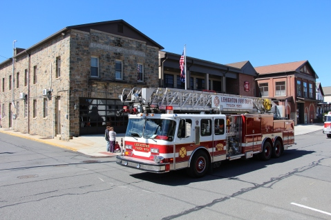 Parade for New Fire Station, Pumper Truck, Boat, Lehighton Fire Department, Lehighton (72)