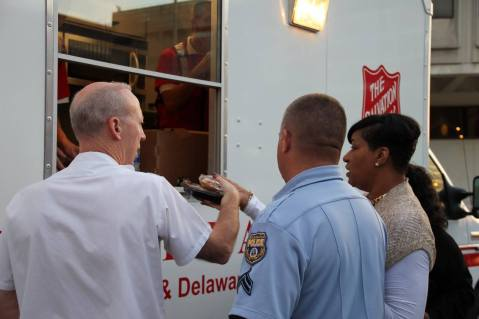 Pope Visit, Salvation Army volunteers, from Philly Facebook page, Philadelphia, Sept 2015 (12)