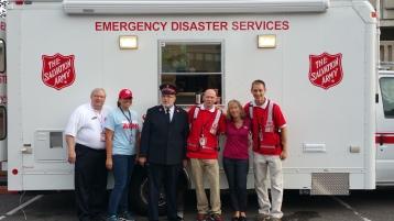 Salvation Army volunteers, Preparing for Pope Visit, Philadelphia, 9-25-2015 (15)