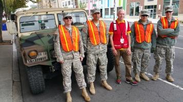 Salvation Army volunteers, Preparing for Pope Visit, Philadelphia, 9-25-2015 (166)