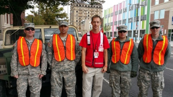 Salvation Army volunteers, Preparing for Pope Visit, Philadelphia, 9-25-2015 (168)