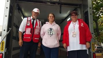 Salvation Army volunteers, Preparing for Pope Visit, Philadelphia, 9-25-2015 (176)