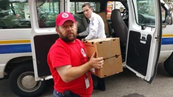 Salvation Army volunteers, Preparing for Pope Visit, Philadelphia, 9-25-2015 (177)