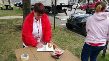 Salvation Army volunteers, Preparing for Pope Visit, Philadelphia, 9-25-2015 (179)