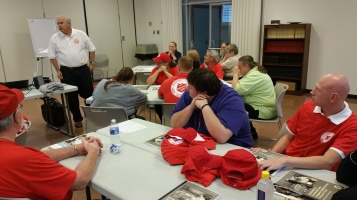 Salvation Army volunteers, Preparing for Pope Visit, Philadelphia, 9-25-2015 (2)