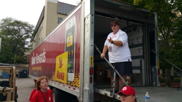 Salvation Army volunteers, Preparing for Pope Visit, Philadelphia, 9-25-2015 (22)