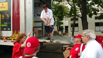 Salvation Army volunteers, Preparing for Pope Visit, Philadelphia, 9-25-2015 (25)