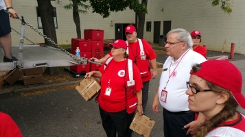 Salvation Army volunteers, Preparing for Pope Visit, Philadelphia, 9-25-2015 (26)