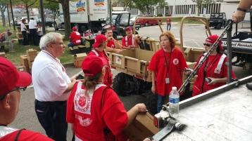 Salvation Army volunteers, Preparing for Pope Visit, Philadelphia, 9-25-2015 (27)
