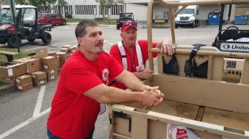 Salvation Army volunteers, Preparing for Pope Visit, Philadelphia, 9-25-2015 (28)