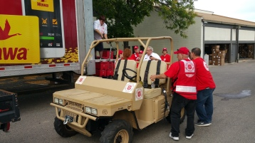 Salvation Army volunteers, Preparing for Pope Visit, Philadelphia, 9-25-2015 (29)