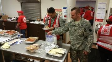 Salvation Army volunteers, Preparing for Pope Visit, Philadelphia, 9-25-2015 (30)