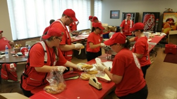 Salvation Army volunteers, Preparing for Pope Visit, Philadelphia, 9-25-2015 (31)