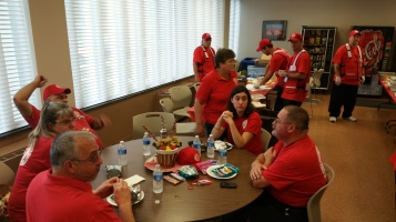 Salvation Army volunteers, Preparing for Pope Visit, Philadelphia, 9-25-2015 (32)