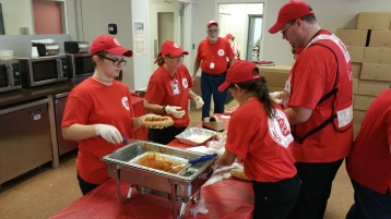 Salvation Army volunteers, Preparing for Pope Visit, Philadelphia, 9-25-2015 (33)