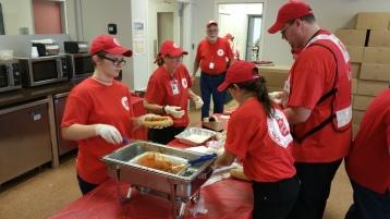 Salvation Army volunteers, Preparing for Pope Visit, Philadelphia, 9-25-2015 (33)