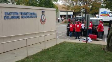 Salvation Army volunteers, Preparing for Pope Visit, Philadelphia, 9-25-2015 (41)