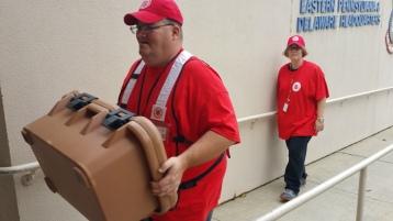 Salvation Army volunteers, Preparing for Pope Visit, Philadelphia, 9-25-2015 (42)