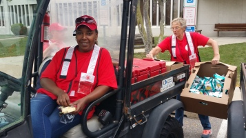 Salvation Army volunteers, Preparing for Pope Visit, Philadelphia, 9-25-2015 (46)