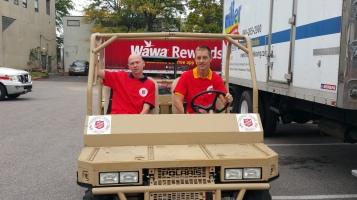 Salvation Army volunteers, Preparing for Pope Visit, Philadelphia, 9-25-2015 (49)