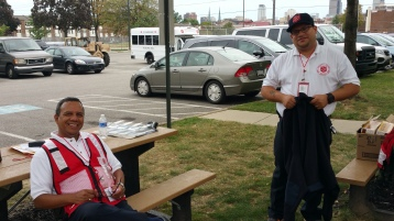Salvation Army volunteers, Preparing for Pope Visit, Philadelphia, 9-25-2015 (52)