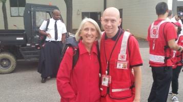 Salvation Army volunteers, Preparing for Pope Visit, Philadelphia, 9-25-2015 (56)