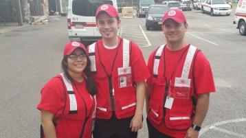 Salvation Army volunteers, Preparing for Pope Visit, Philadelphia, 9-25-2015 (59)