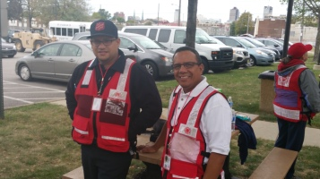 Salvation Army volunteers, Preparing for Pope Visit, Philadelphia, 9-25-2015 (62)