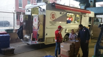 Salvation Army volunteers, Preparing for Pope Visit, Philadelphia, 9-25-2015 (64)