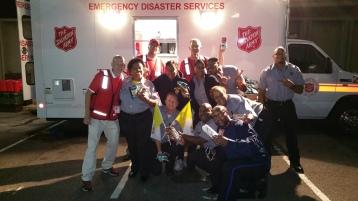 Salvation Army volunteers, Preparing for Pope Visit, Philadelphia, 9-25-2015 (68)