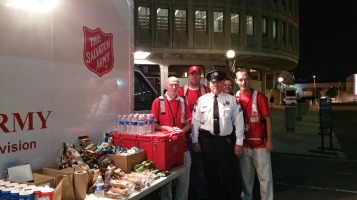 Salvation Army volunteers, Preparing for Pope Visit, Philadelphia, 9-25-2015 (7) b