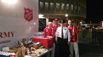 Salvation Army volunteers, Preparing for Pope Visit, Philadelphia, 9-25-2015 (7) b