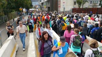 Salvation Army volunteers, Preparing for Pope Visit, Philadelphia, 9-25-2015 (82)