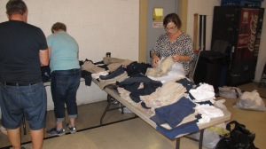School Uniform Clothing Giveaway, Drop-Off, Salvation Army, Tamaqua, 9-19-2015 (10)