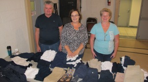 School Uniform Clothing Giveaway, Drop-Off, Salvation Army, Tamaqua, 9-19-2015 (2)