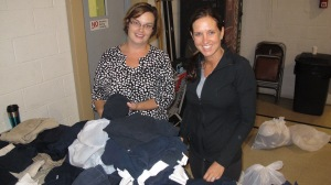 School Uniform Clothing Giveaway, Drop-Off, Salvation Army, Tamaqua, 9-19-2015 (6)