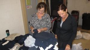 School Uniform Clothing Giveaway, Drop-Off, Salvation Army, Tamaqua, 9-19-2015 (7)